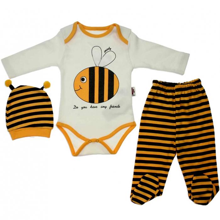 Arılı 3lü Bebek Zıbın Takımı